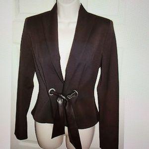 Cache Brown Tie-Front Blazer Jacket size 2